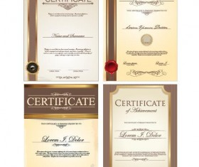 Certificate template vector kits 02