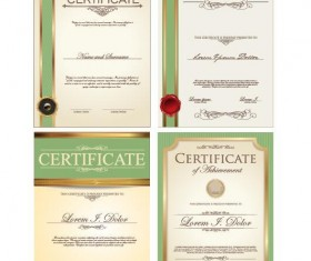 Certificate template vector kits 03