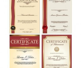 Certificate template vector kits 04
