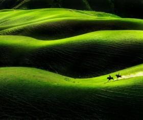 China Xinjiang Tianshan Mountains landscape Stock Photo