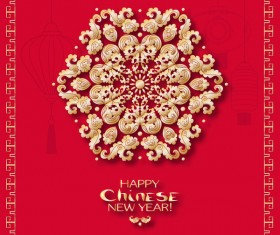 Chinese 2018 new year backgrounds vector material 09