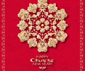 Chinese 2018 new year backgrounds vector material 10