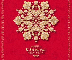 Chinese 2018 new year backgrounds vector material 12