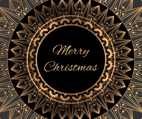 Christmas golden luxury frame vector material