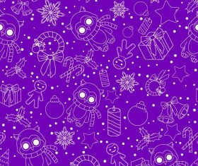 Christmas line baubles seamless pattern vector 01