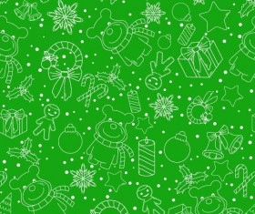 Christmas line baubles seamless pattern vector 02