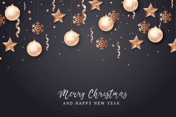 Christmas with 2018 ney year background and baubles vector 05