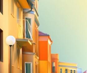 City house vectors material 02