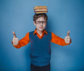 Clever Boy Stock Photo 02