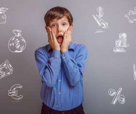 Clever Boy Stock Photo 04
