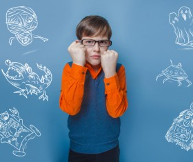 Clever Boy Stock Photo 07