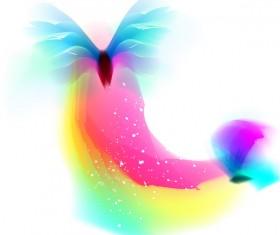 Colored butterflies dream vector 01