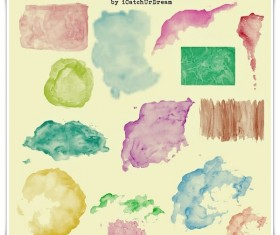 Colored splashes Photoshop Brushes