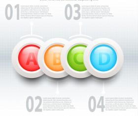 Colorful topics 3d circles vector design infographic illustration