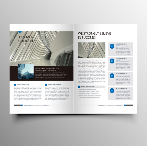 Company magazine with brochure cover template vector 05
