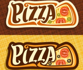 Creative pizza banners vector