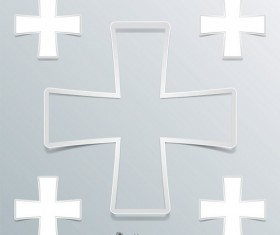Cross symbol background vecto