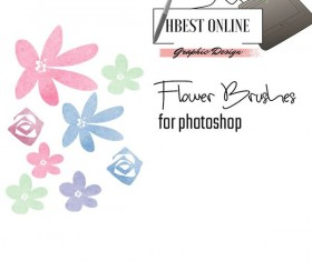 Cute Flower photoshop brushes