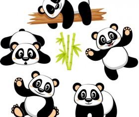 Cute cartoon panda vector
