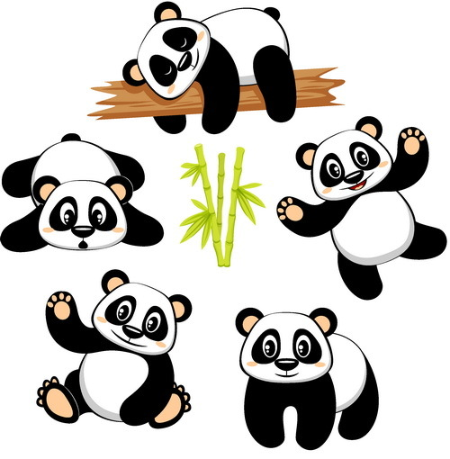 cute cartoon panda vector free download
