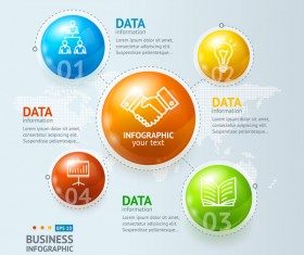 Data information business infographic template vector
