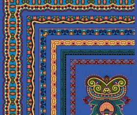 Decorative border corner ethnic styles vector 01