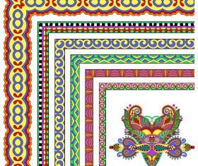 Decorative border corner ethnic styles vector 02