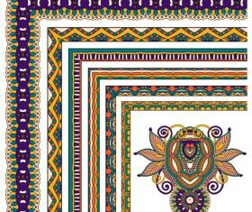 Decorative border corner ethnic styles vector 06