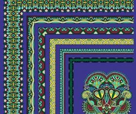 Decorative border corner ethnic styles vector 08