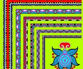 Decorative border corner ethnic styles vector 10