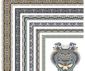 Decorative border corner ethnic styles vector 18