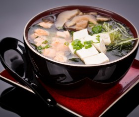 Delicious mixed soup Stock Photo