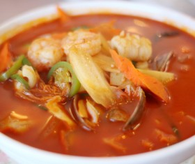 Delicious seafood soup Stock Photo 03