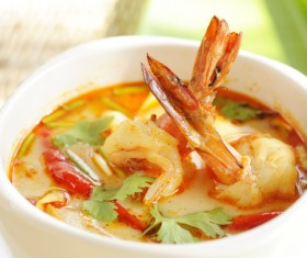 Delicious seafood soup Stock Photo 04