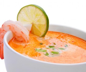 Delicious seafood soup Stock Photo 05