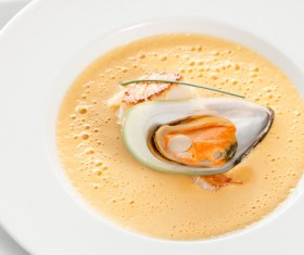Delicious seafood soup Stock Photo 06
