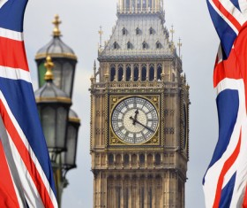 Different angles shot of the British Big Ben Stock Photo 01