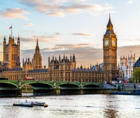 Different angles shot of the British Big Ben Stock Photo 02