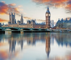 Different angles shot of the British Big Ben Stock Photo 03