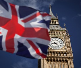 Different angles shot of the British Big Ben Stock Photo 04