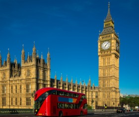 Different angles shot of the British Big Ben Stock Photo 05