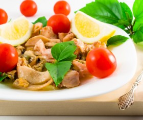 Different delicious dishes Stock Photo