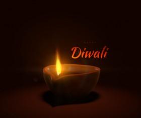 Diwali creative background vector 01