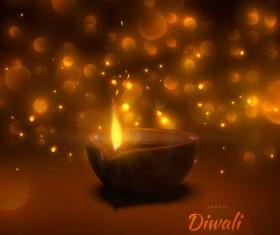 Diwali creative background vector 02