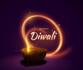 Diwali creative background vector 03