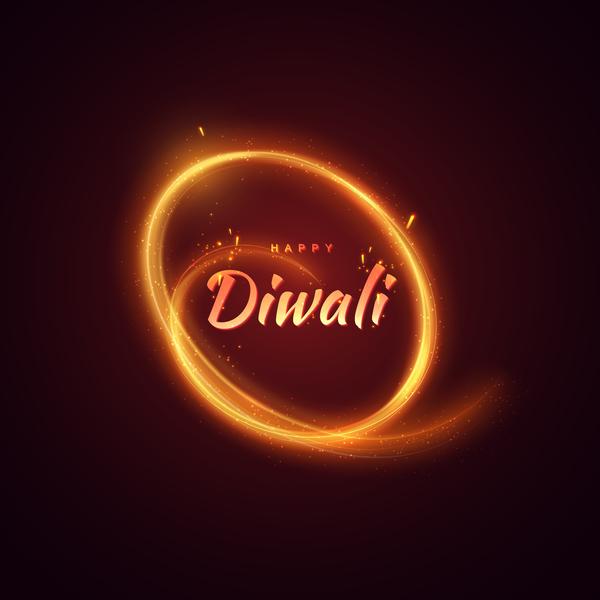 Diwali creative background vector 04