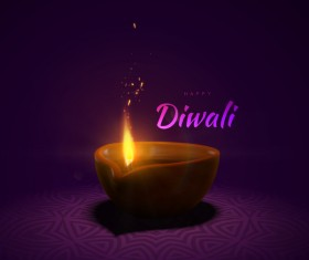 Diwali creative background vector 05