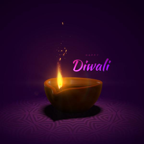 Diwali creative background vector 05