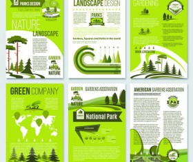 Eco cover brochure template vector