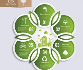 Eco round infographic template vector